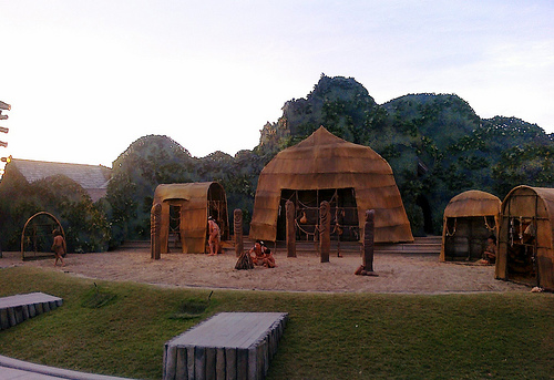 Picture taken on the set of the Lost Colony play