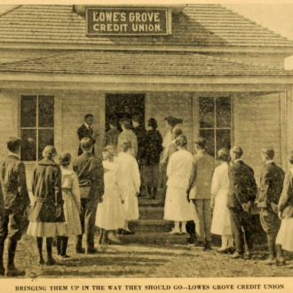 Lowes Grove Credit Union, built in 1916.  Image courtesy of OpenDurham.