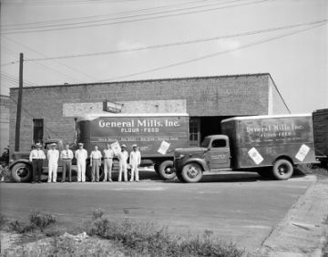 General Mills Trucks 1947  From the Barden Collection, North Carolina State Archives,  N.53.15.6080.