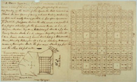 Christmas, William. Plan for Raleigh, 1792. Image from State Archives of North Carolina