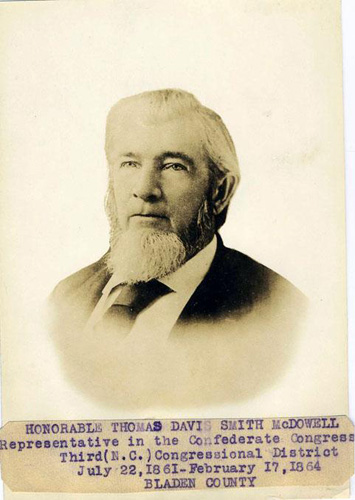Thomas D. McDowell. Image courtesy of the NC Museum of History.