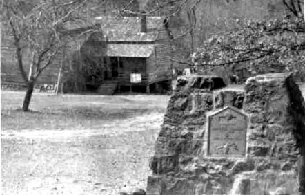 McIntye's Cabin. Image from the Charlotte-Mecklenburg Historic Landmarks Commission.