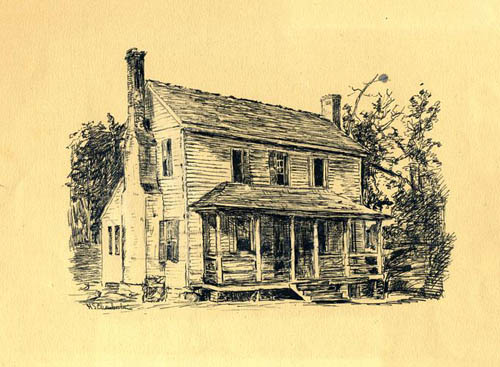 Old Raleigh Academy where Dr. William McPheeters taught. Image courtesy of the NC Museum of History.