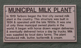 Municipal Milk Plant Marker  Tarboro, North Carolina, 2010. Image courtsy of Flickr user Jimmy Emerson.