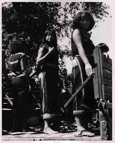 Montagnard women, 1966, Image taken by Mark Gayn. Image courtesy of Thomas Fisher Rare Book Library, University of Toronto, Toronto, Ontario Canada M5S 1A5.