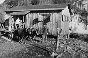 Camp creek grist mill, mountains. Courtesy of State Archives of NC.