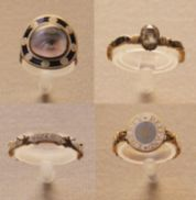 Mourning Rings from the British Museum, 1729-80. Image courtesy of Kotomi Yamamura.