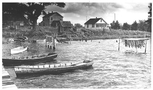 New River. Marines, Onslow County, NC, ca. 1939. From the Charles A. Farrell Photograph Collection, North Carolina State Archives, Raleigh, NC. Call #: PhC9_2_16_0