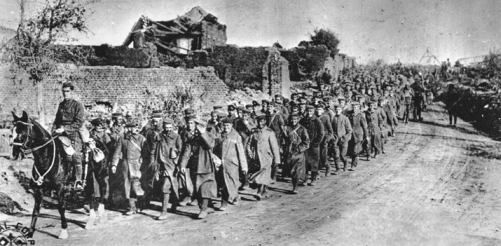 The Thirtieth Infantry Division overseeing the movement of German prisoners of war. Courtesy of North Carolina Office of Archives and History, Raleigh.