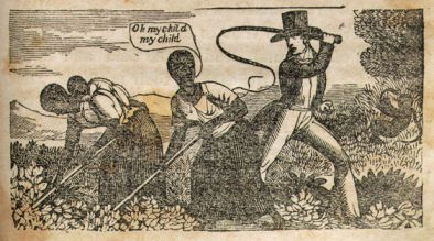 """Slaves under the overseers whip."" 1849. Image courtesy of LearnNC."