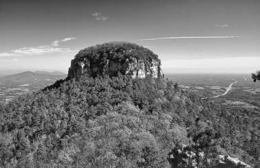 Pilot Mountain. Photograph courtesy of North Carolina Division of Tourism, Film, and Sports Development.