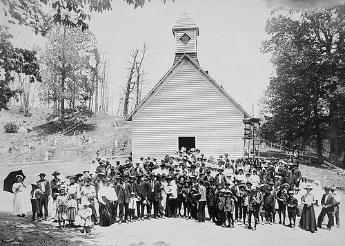 Pisgah church May 30, 1909 Frank W. Bicknell Photograph Collection, PhC.8, North Carolina State Archives, Raleigh, NC. Call #: PhC8_185.