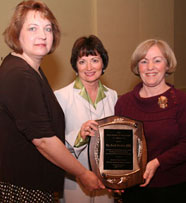 The NC PTA was presented the NCAE Friend of Education Award at the 2010 NCAE Conference in Winston-Salem. Image available online from NC PTA.