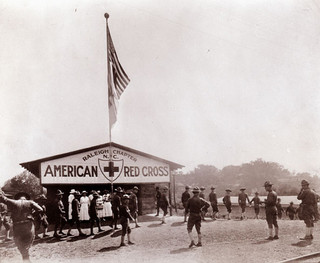 Red Cross station, Raleigh, NC, World War I Era. From General Negative Collection, North Carolina State Archives, call #:  N-64-8-154.