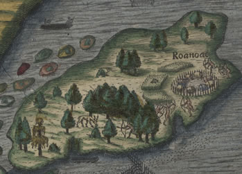 Roanoke Island - First English Colonies (from Research Branch, NC ...
