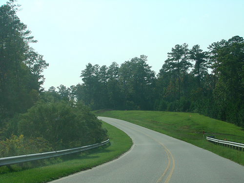 Bend in the Road, Research Triangle Park. Image courtesy of Flickr Commons.