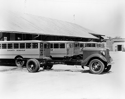 School Bus, 1936. From the Barden Collection, North Carolina State Archives, call #:  N.53.15.6645, Raleigh, NC.