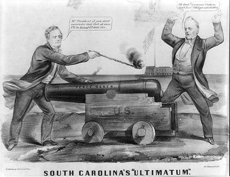 "Political cartoon - ""South Carolina's Ultimatum"""