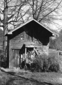 Smokehouse, Colonel Benjamin Franklin Brown House, Dixie, North Carolina. Image courtesy of NCSU Libraries.