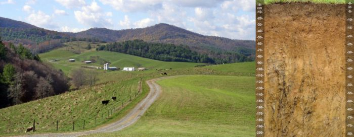 "Kelley, John. 2003. ""NC Mountain Landscape and Soil."" Flickr user Soil Science."