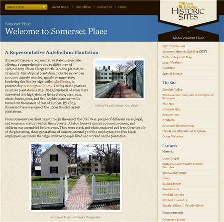 Somerset Place web site screen shot