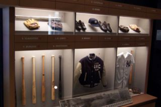 Baseball area in the NC Sports Hall of Fame Exhibit at the NC Museum of History.