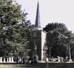 St Paul's Church. Parish formed in 1701 under Church of England, present structure built in 1736. Image couresty of NC Office of Archives and History.