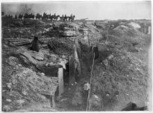 An abandoned British trench, World War I