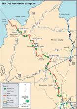 Buncombe County Turnpike: GIS map