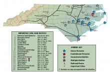 Civil War battles in North Carolina