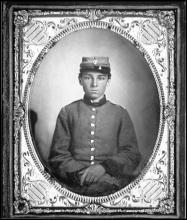 Portrait of a Confederate soldier