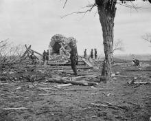 Ruins of Judith Henry's house after the First Battle of Bull Run
