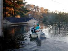Hurricane Floyd damage in Pactolus, NC