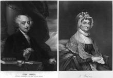 John and Abigail Adams composite portrait