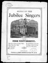 Fisk Jubilee Singers sheet music folio
