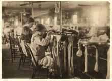 Nannie Coleson, looper, at a textile mill