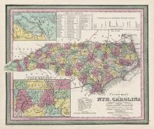 1853 map of North Carolina
