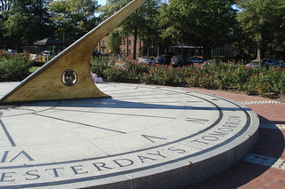 Sundial by Morehead Planetarium in Chapel Hill, North Carolina. Image courtesy of Flickr user Kristian20.