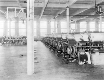 Interior, Crawford Mill, c.1920, Lincolnton, NC. From Carolina Power and Light (CP&L) Photograph Collection, North Carolina State Archives, call #: PhC68_1_307.