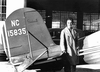 """Louise Thaden and Beechcraft Staggerwing C17R NC15835,"" Photo"