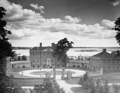 Tryon Palace, c.1963, New Bern, NC. Elevated View. From Carolina Power and Light Photograph Collection, North Carolina State Archives, call #:  PhC68_1_60_2.