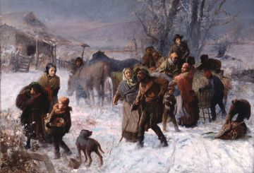 The Underground Railroad, painted by Charles T. Webber, 1891.