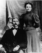 Julia and W.O. Wolfe in 1900. Image courtesy of the NC Office of Archives & History.