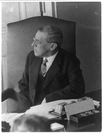 Woodrow Wilson, one of first Cabinet meetings