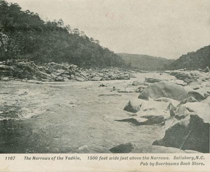 """Yadkin River and the Trading Ford - Narrows of the Yadkin."" Image courtesy of official  Rowan County website."